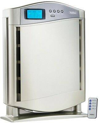 Hepa Larger Air Purifier Silver Pre Filter Ionic Fresh Healthier Cleaner