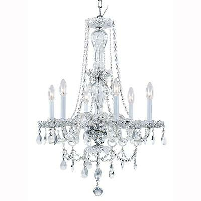 Hampton Bay Lake Point 6-Light Chrome and Clear Crystal Chandelier 1000051538