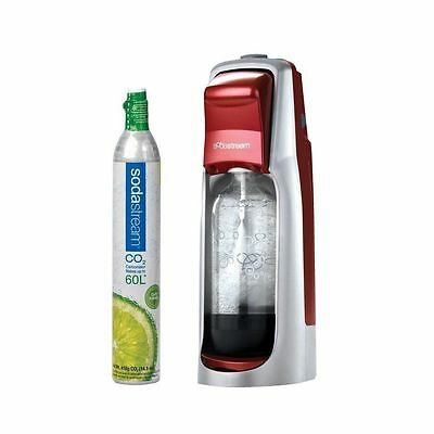 Sodastream Jet Compact Red Home Carbonating Drinksmaker With 60L Gas Cyliner