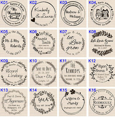 Custom Self Inking business family return address wedding round rubber stamp