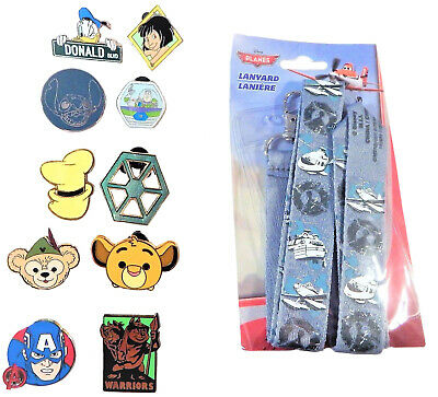 Planes Lanyard Set w/ 10 Pins for Boys Walt Disney World Trading ~ Brand NEW -FS