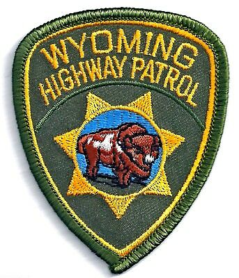 WYOMING HIGHWAY PATROL - POCKET/HAT SIZE - IRON or SEW-ON PATCH