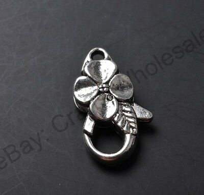 10pcs tibetan silver Small Heart lobster clasp 25X14MM JK0421