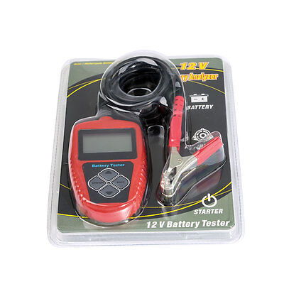 New QUICKLYNKS BA102 Motorcycle Battery Tester LCD Display Battery Analyzer