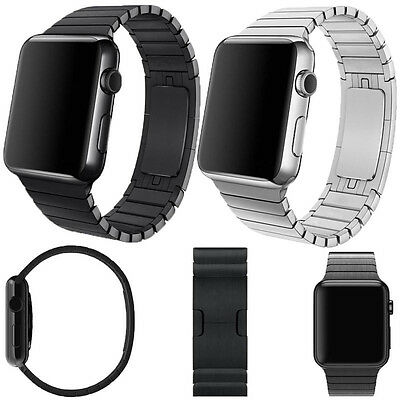 Butterfly straps band Bracelet WatchBand Strap for Apple Watch Stainless Steel