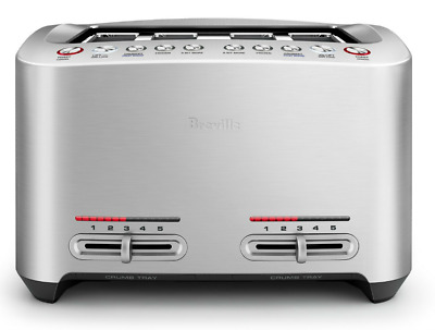 NEW Breville The Smart Toast 4 Slice Toaster S/S BTA845BSS FAST SHIPPING