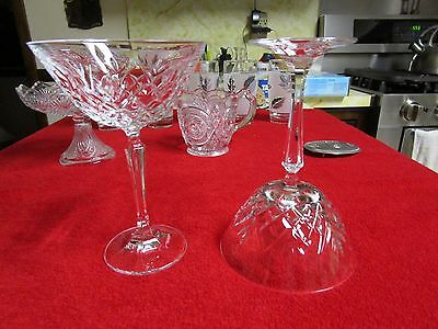 Beautiful Antique Vintage and Retro Crystal Glass Goblet UNIQUE RARE