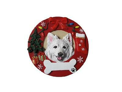 American Eskimo Ornament Personalized and Hand Painted Measures 3.75 Inches Diam