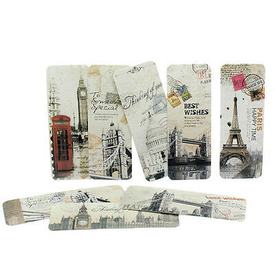 30 in Set Retro Famous London Paris Book Marks Paper Reading Bookmark Flag hot