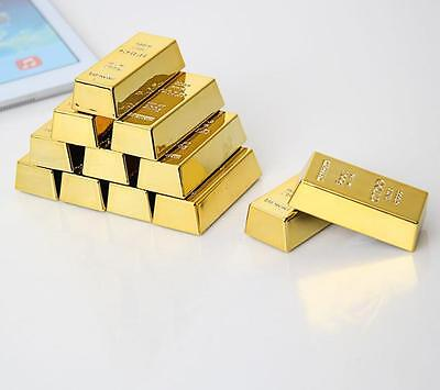 1PCS Gold Bullion Home Office Itme Fridge Magnet Paper Weight Bring Money Luck