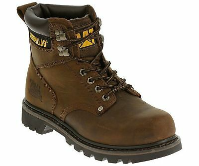 "Caterpillar 6"" Second Shift Soft Toe Brown Work Boots  P72593 Brand New Mens"