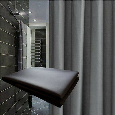 Solid Grey Shower Curtain 2m Long New Free Shipping