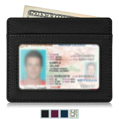 Credit Card Holder [RFID Blocking] Wallet Case Cover Sleeve with ID Window