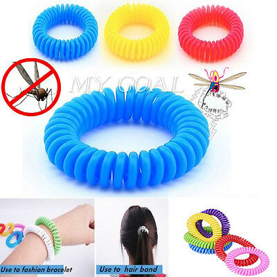 5/10 x Anti Mosquito Bug Pest Repel Wrist Band Bracelet Insect Repellent Camping