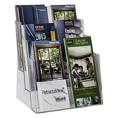 Clear-Ad - LHF-S83 - Acrylic 3 Tier Brochure Holder Organizer - Table Top or Wal