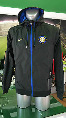 Giacca Vento Calcio Jacket Authentic Windrunner Nike Inter 2016/2017 Nero Black