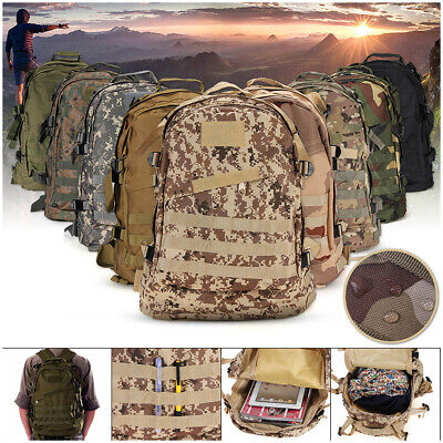 40L Molle Military Tactical Rucksack Backpack Travel Camping Hiking Bag Outdoor