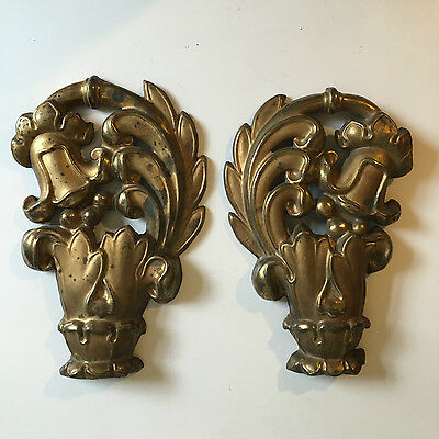 Ornate Pair of Vintage Curtain Pole Finials