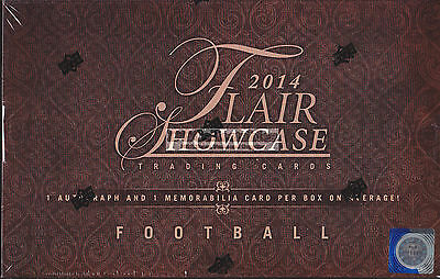 2014 Upper Deck Flair Showcase Football Nfl Factory Sealed Hobby Box New Express