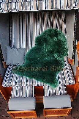 Sheepskin Sheep Skin colored Green,Turquoise Moss green biological tanned