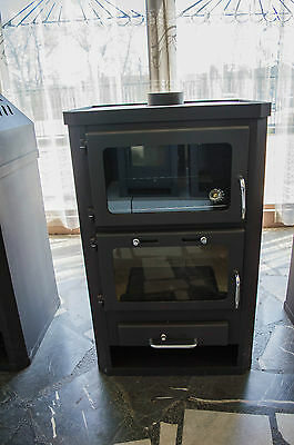 Wood Burning Stove with Fireplace Cooker Oven Solid Fuel 14 kw Top Flue Exit