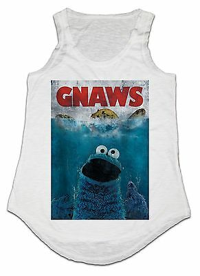 Funny Cookie Monster Minions Muppets Animal Present Ladies Tank Top,Ladies Vest