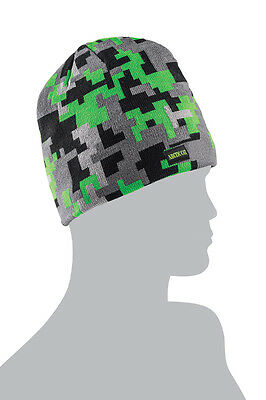 Arctic Cat Adult Digital Camo Beanie / Hat - Black - Gray - Lime 5263-061