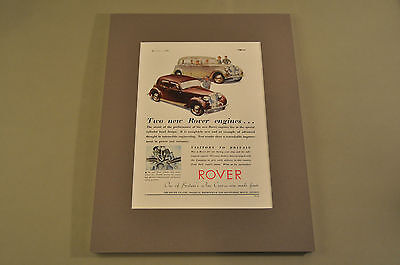 VINTAGE ROVER Advertisement (Matted) 11/3/1948 THE MOTOR Magazine