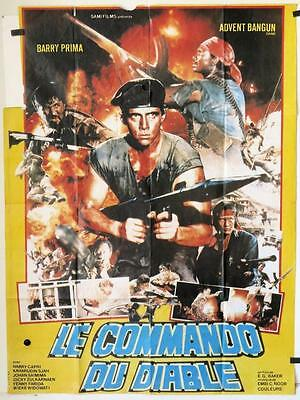 720 KOMANDO SAMBER NYAWA French one-panel movie poster '85 Barry Prima