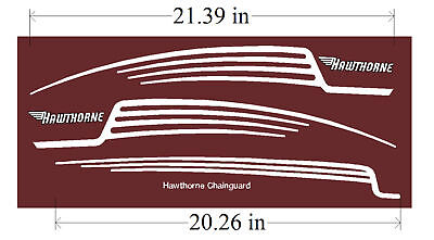 Hawthorne bicycle  decals Tank & chainguard