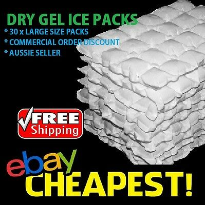 30 x DRY GEL ICE PACKS - Eski Sheets Cooler Hydratable  Reusable