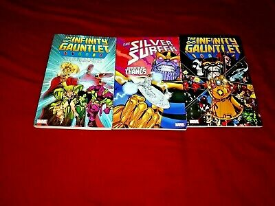 Silver Surfer 34 -38 60 -66 70 -75 Thanos Quest Infinity Gauntlet 1 -6 War Tpb