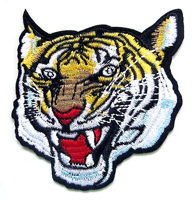 Tiger Iron On Patch- Embroidered Appliques Animal Badge Safari Zoo Sew Crafts