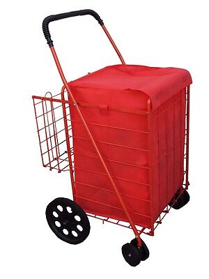 grocery folding shopping cart (LINER)  jumbo size  CART NOT INCLUDED color red