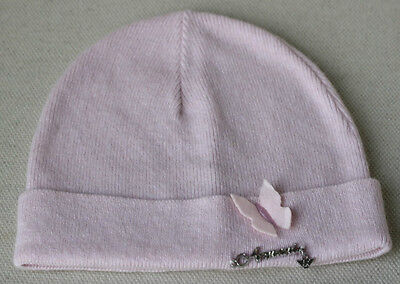 Armani Baby Pink Wool Blend Hat Medium 4-6 Years