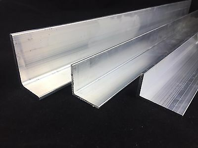 Aluminium Extruded Angle Various Sizes Thickness 2 - 6 mm / 500mm - 6000mm LONG