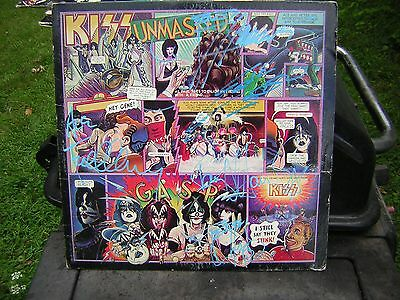 - Kiss Signed Unmasked Lp 5 Members Eric Carr