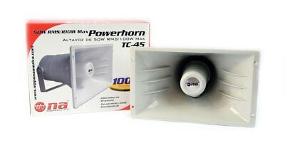 1 PACK PA Powerhorn Speaker Good for Indoor Outdoor Use 50W RMS 100W Max