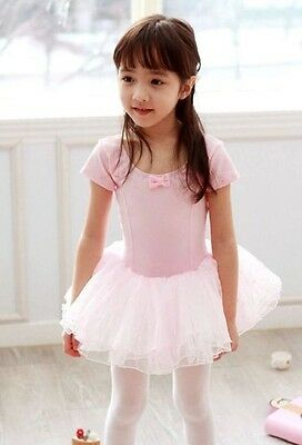 NEW Pink Ballet Dance Leotard/Dress Tutu Ages 3,4,5,6,7 years Fairy Dress Up UK