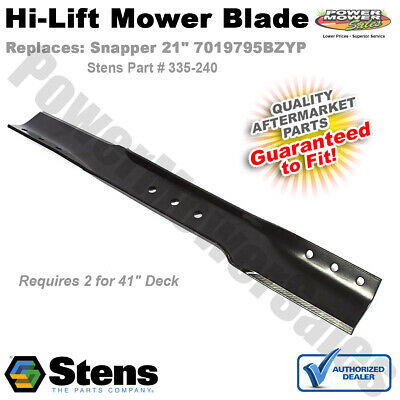 "Hi-Lift Blade / Snapper 7019795BZYP LT11000 1-7002 1-9645 Commercial 21"" Mowers"