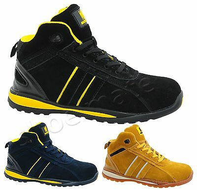 Mens Ladies Leather Lightweight Steel Toe Cap Safety Work Boots Shoes Trainers Z