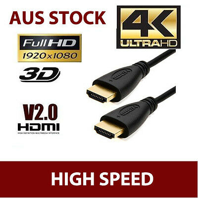 4K Ultra HD Premium HDMI Cable V2.0 3D High Speed Ethernet 1m ~ 20m Gold Plated