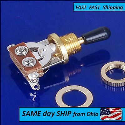 3 Way Guitar Selector Pickup Gold Toggle Switch For Les Paul Guitar Parts
