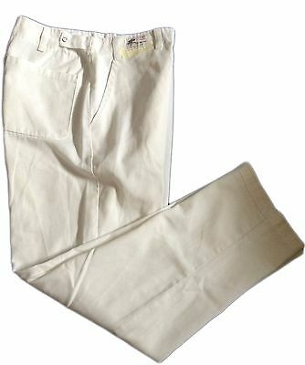 White Chef Pants Zipper and Button Top Closure Adjustable Waist BEST Textiles