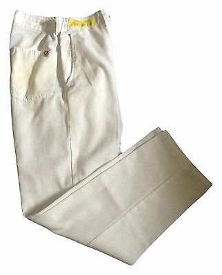 Chef Designs Men's 2020WH 100% Spun Polyester White Work Uniform Cook Pant