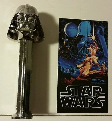 Star Wars Darth Vader PEZ dispenser SILVER chrome Toy eXpo dealers exclusive