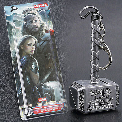Unisex Movie Series The Avengers Thor Hammer Decoration Pendant Metal Key Chain