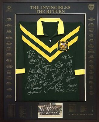 Blazed In Glory - 1986 Return of the Invincibles - NRL Signed and Framed Jersey