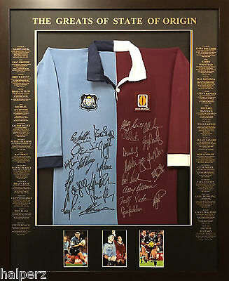 Blazed In Glory - State Of Origin Split Legends - NRL Signed and Framed Jersey