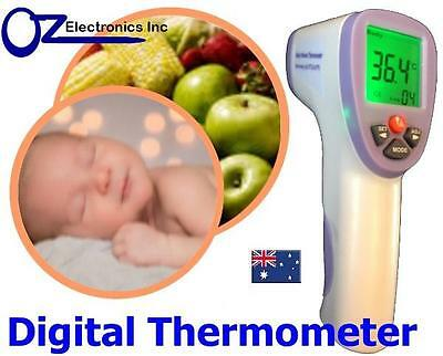 Portable Digital Infrared Thermometer Temperature Laser Gun Meter baby kid body
